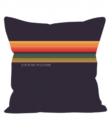 13th Doctor Who Rainbow Pattern Sofa Cushion / Throw Pillow